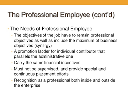 professional objectives the practice of management