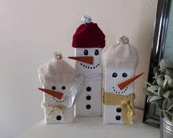 wooden snowman wooden snowmen etsy
