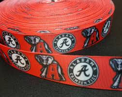 alabama ribbon crimson ribbon etsy