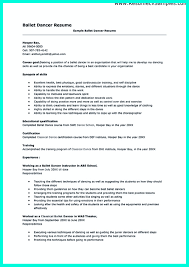 Actor Resume Format Appealing Dance Resume Examples