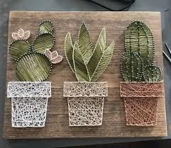 cactus home decor cactus garden string art suculent string srt home decor