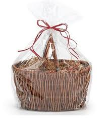 large jumbo size clear cellophane bags basket bags cello