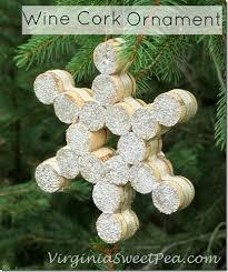 snowflake wine cork ornament sweet pea