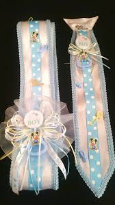blue baby mickey mouse baby shower sash u0026 tie set
