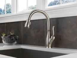 delta kitchen faucet satin nickel decolav satin nickel rohl
