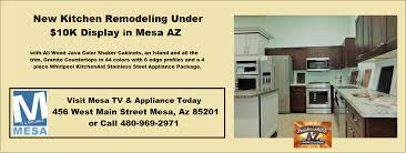New Appliance Colors by New Kitchen Remodeling Display Under 10k In Mesa Az