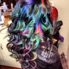 hair color pics highlights multi multi color highlights for brown hair in 2016 amazing photo