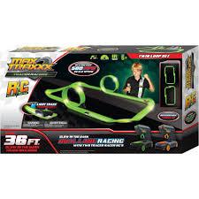 glow in dark invitations max traxxx tracer racer glow in the dark r c dual loop set 36