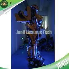 Robot Costume Halloween Authentic Transformer Bumblebee Costume Led Robot Costume
