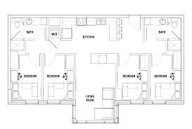 4 bed 2 bath b landmark student housing ann arbor mi