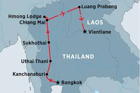 Hmong Map Northern Thailand U0026 Laos Experience Thailand Tours Peregrine