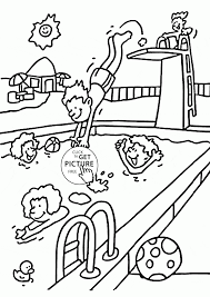 coloring pool coloring pages