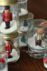 decorations ornaments with elfs on jar snow