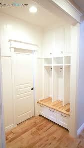 built in mudroom lockers