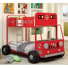 Jeep Bunk Bed Hokku Designs Fire Engine Twin Bunk Bed U0026 Reviews Wayfair