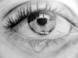 pencil drawings eyes crying drawing and coloring for kids