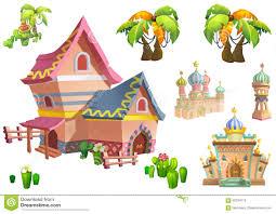 illustration desert theme elements design set 2 game assets the
