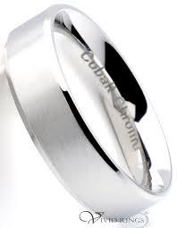 beveled ring men s brushed cobalt chrome beveled edges ring 6mm rings