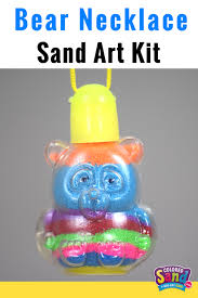 colored sand colored sand art necklaces make great birthday party favors for