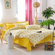 latest design yellow bed sheet crown printed duvet cover modern