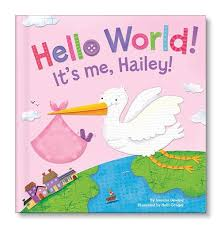 hello world personalized book pink i see me