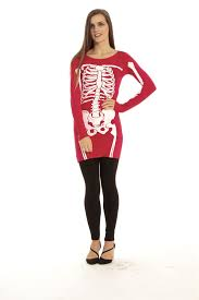 womens halloween shirt womens halloween ladies jersey skeleton bones bodycon tunic t