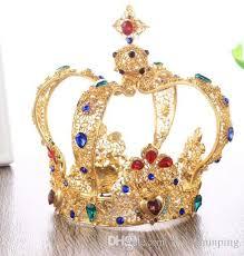 bridal ornaments gold baroque tiles luxury retro headwear