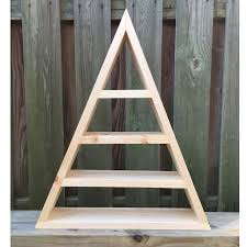 triangle shelf crystal shelf shadow box wood shelf