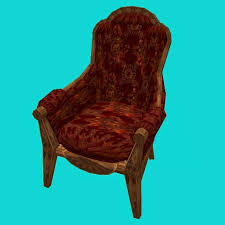 Overstuffed Armchair Second Life Marketplace Victorian Steampunk Overstuffed Armchair