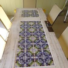 Tiled Patio Table Tile And A Door Patio Table Backyard Landscaping Ideas