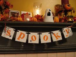 halloween fireplace mantel decor spooky banner halloween garland