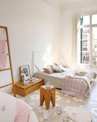 serene pastel bedroom also creamy shade painted and natural wood