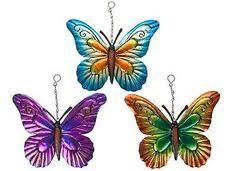 garden butterfly wall set of three garden butterfly ornaments