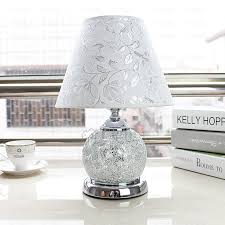 Glass Table Lamps Glass Table Lamps White Fabric Shade