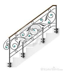wrought iron stairs railing by egorovajulia via dreamstime