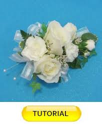 easy to make wrist corsage wedding flower tutorial
