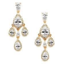 clip on bridal earrings adrienne bridal earrings gold clip on