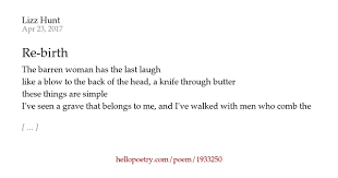 re birth by lizz hunt hello poetry