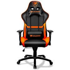 chaise bureau gaming trendy fauteuil de bureau gamer armor noir et orange chaise