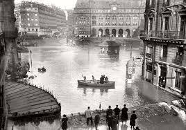 vintage paris under water 1910 monovisions