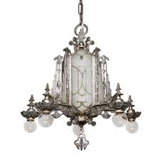 Art Deco Lighting Fixtures Chandeliers Magnificent Antique Art Deco Chandelier Mirrored And Etched Glass