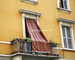 tuscan yellow italy print yellow color balcony window drapesshutters