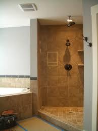luxury open shower bathroom design in home remodel ideas with open
