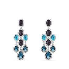blue chandelier earrings classic chandelier earrings with hton blue topaz black orchid