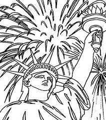 fireworks upon statue of liberty coloring page download u0026 print