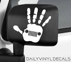jeep decals jeep wave decal jeep hand decal jeep sticker jeep decal jeep