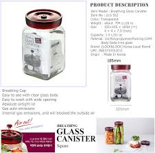 Clear Glass Canisters For Kitchen by Lock U0026lock Llg552 1 5l Breathing Glass Canister Clear Multi Purpose