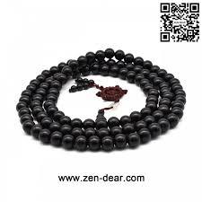 beaded black bracelet images Dear unisex natural ebony wood buddhist prayer bead necklace jpg