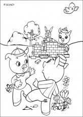 pigs coloring pages 3 pigs coloring