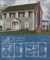 center colonial floor plans 1921 colonial revival american homes beautiful charles